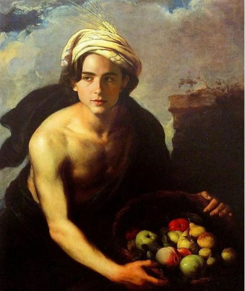 Esteban Murillo, Jeune homme au panier de fruit, 1640