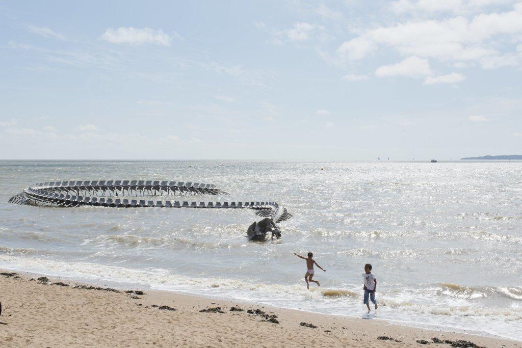 Huang Yong Ping, Serpent d'océan, Saint-Brevin-les-Pins, création pérenne Estuaire 2012