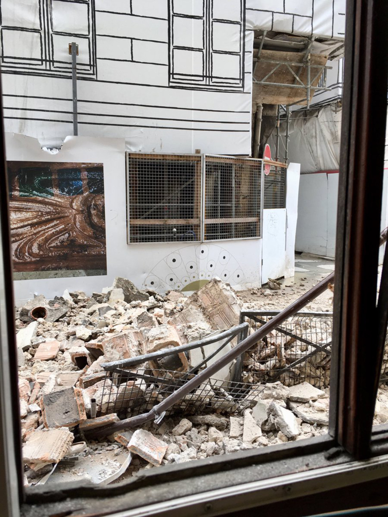 Fermeture dramatique du Musée en Herbe dû à l'effondrement du bâtiment en chantier de la Samaritaine