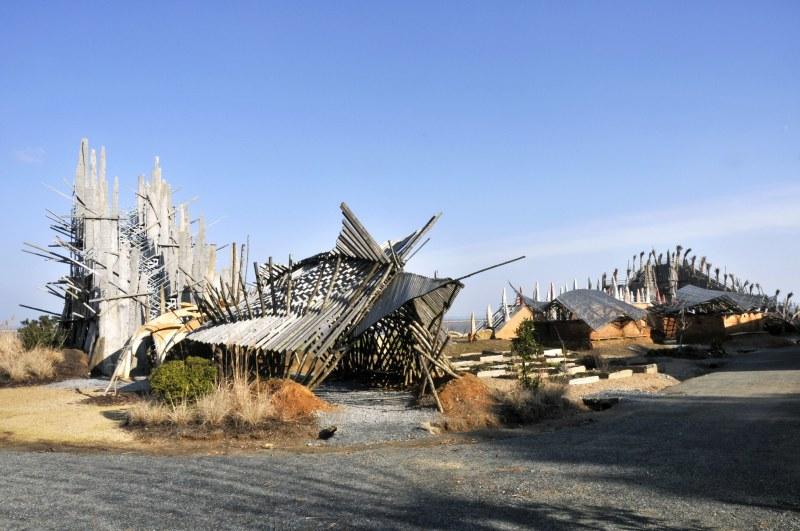 Kinya Maruyama, Le Jardin étoilé, Paimboeuf, création pérenne Estuaire 2007-09 © Gino Maccarinelli/LVAN