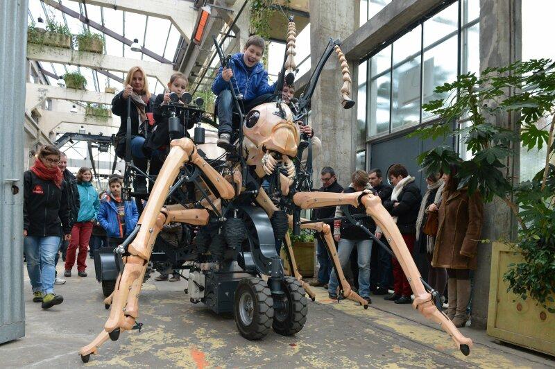 La Fourmi géante. Galerie des Machines. Les Machines de l'île. Nantes (Loire-Atlantique).