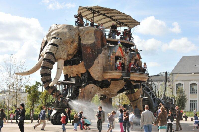 Le Grand Eléphant. Les Machines de l'île. Nantes © Nautilus Nantes/LVAN