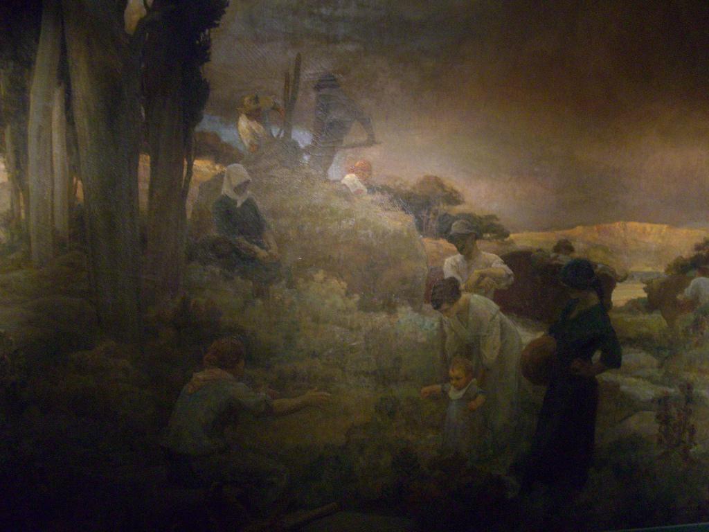 Léon Charles Canniccioni, Retour à la terre, triptyque