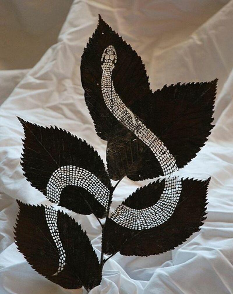 La sculpture sur feuille de Lorenzo Duran
