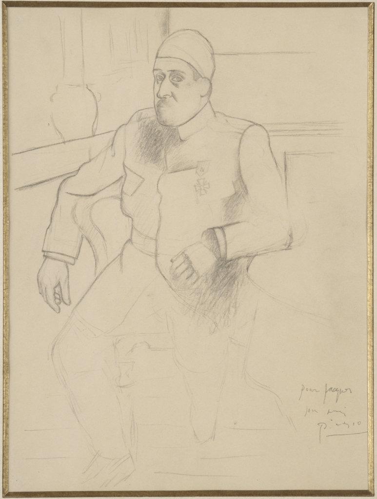 Pablo Picasso, Portrait de Guillaume Apollinaire - Picasso Picabia au Musée Granet à Aix-en-Provence.