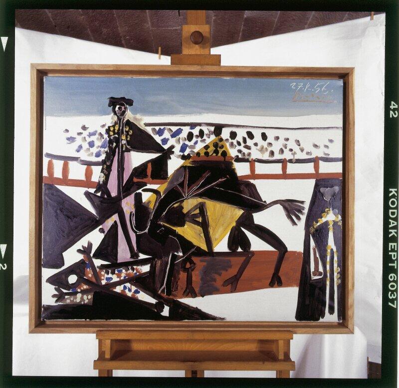 37 Pablo Picasso Passe de cape, 1956 Huile sur toile, 60 x 73 cm Belfort, Musée d'art moderne – Donation Maurice Jardot © Succession Picasso, 2018