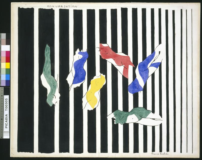 157 Francis Picabia Conversation I, 1922 Aquarelle et crayon sur papier, 59,5 x 72,4 cm Tate Modern, Londres © ADAGP, Paris 2018