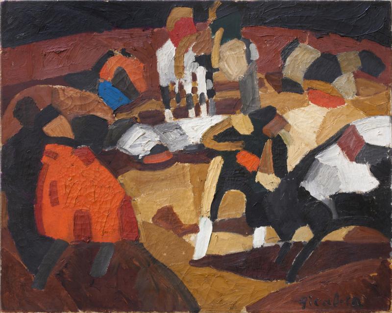 42 Francis Picabia Tauromachie, 1912 Huile sur toile, 72 x 90 cm Collection Valérie Roncari, Courtesy Galerie 1900-2000, Paris © ADAGP, Paris 2018