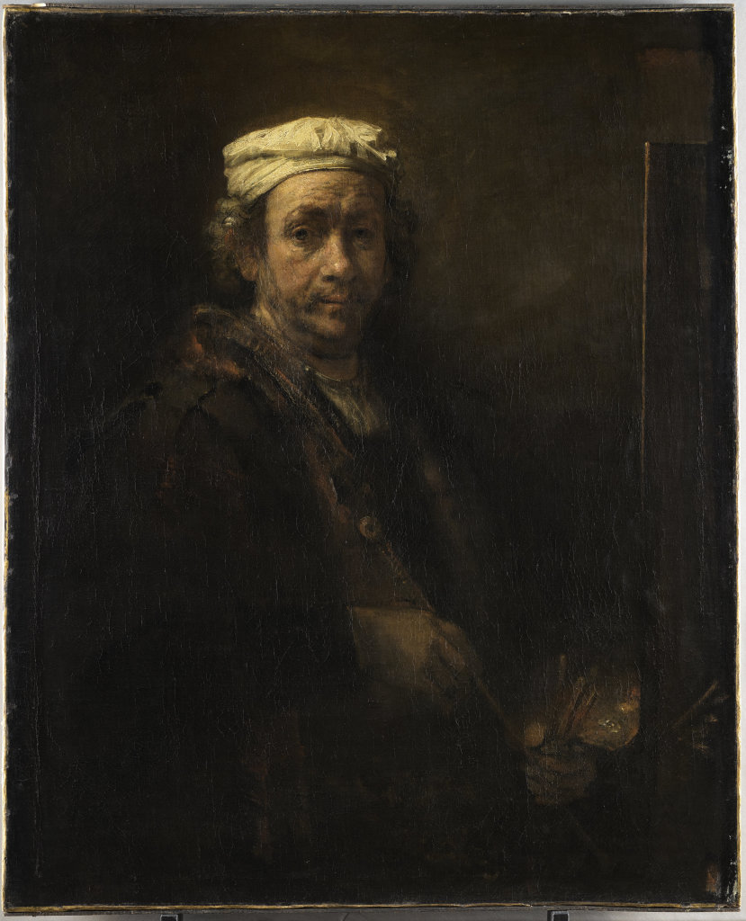 Rembrandt - Portrait de l'artiste au chevalet