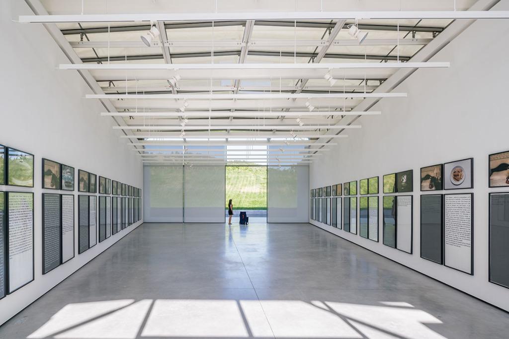 Vue de l'exposition Dead end de Sophie Calle au Château La Coste