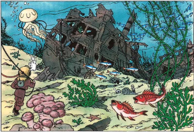 Tintin et le trésor de Rackham le rouge, tous droits réservés