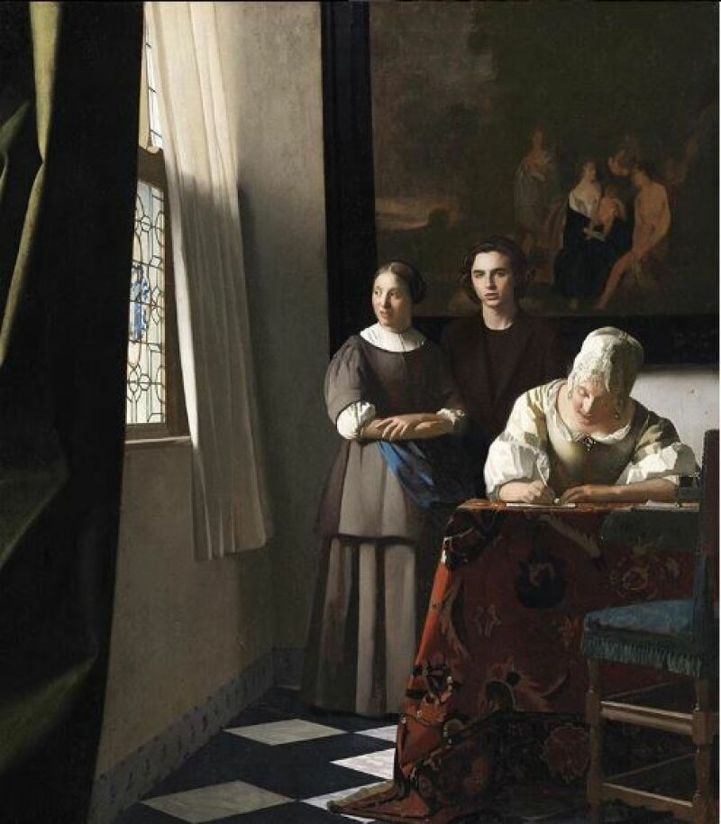 Vermeer, Lady writing a letter, 1670