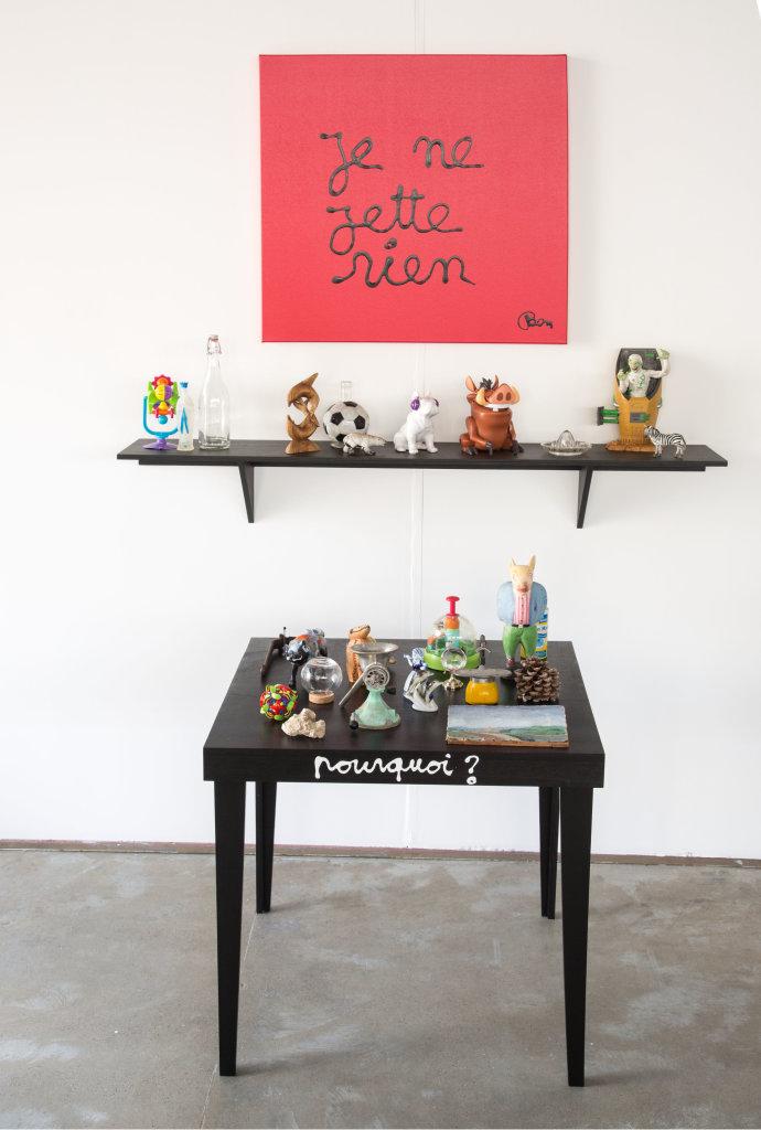 Vue de l'exposition Ben, On peut le faire - Fondation du Doute