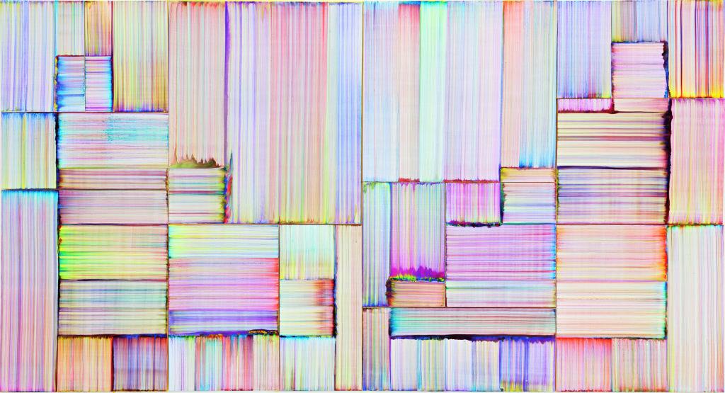 Vue de l'exposition Bernard Frize au Centre Pompidou (26)