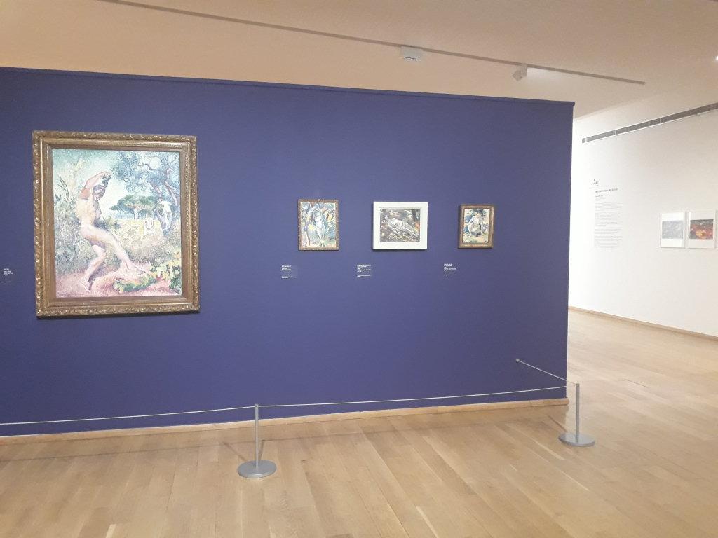 Vue de l'exposition Henri-Edmond Cross, Peindre le bonheur - Musée des Impressionnismes de Giverny