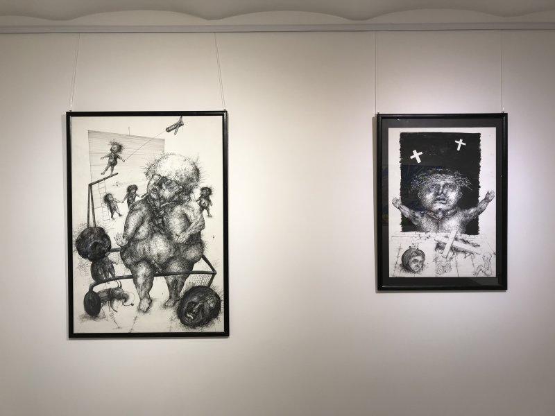Vue de l'exposition L'art des Balkans - Galerie Boris