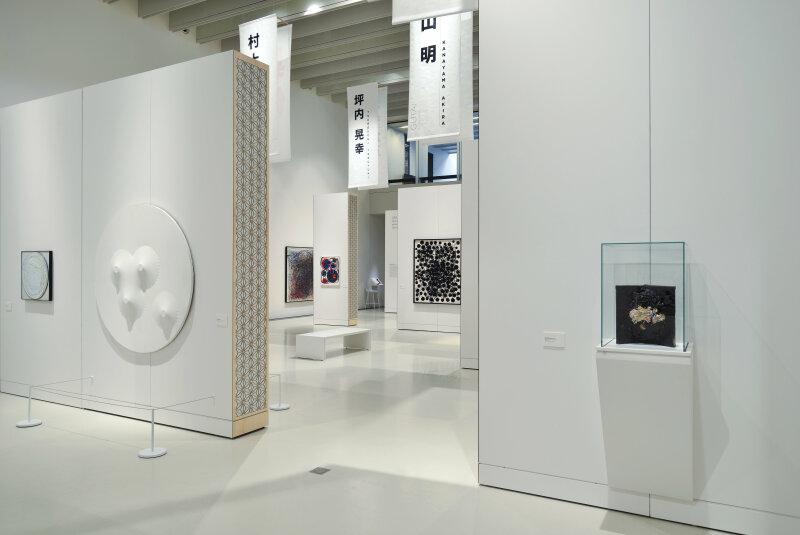 Vue dede l'exposition Gutai, Musée Soulages