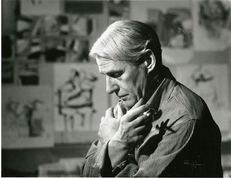 Willem de Kooning dans son studio