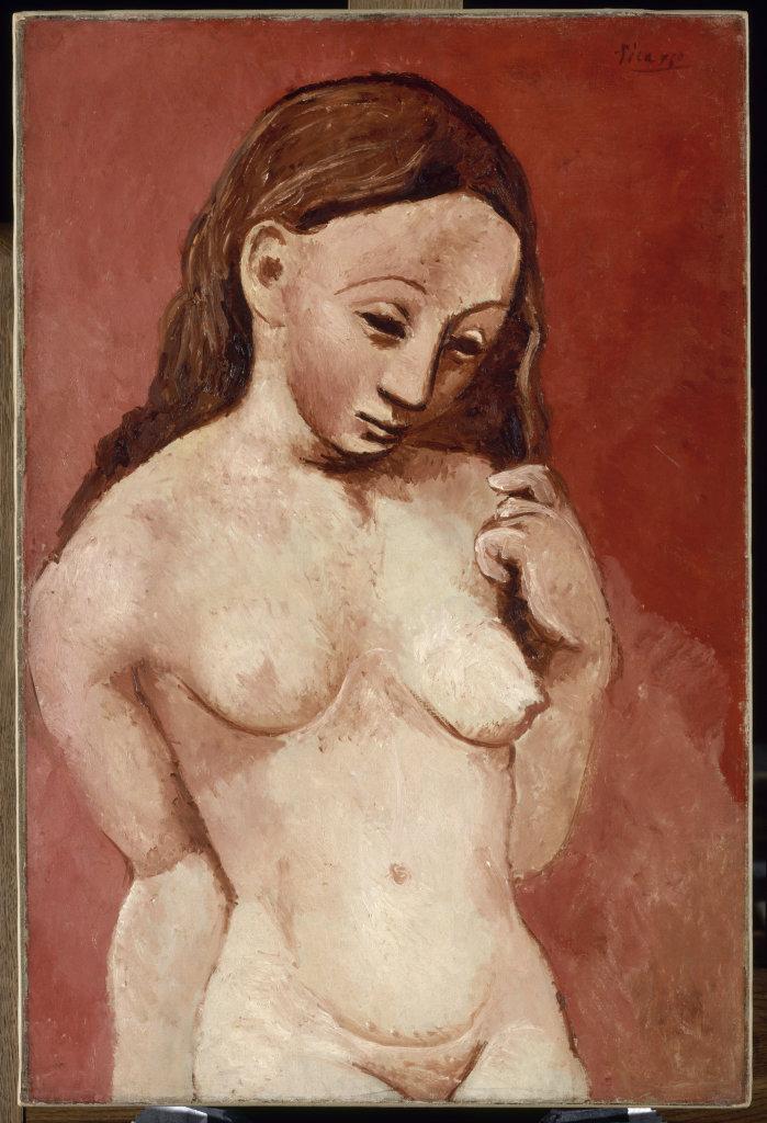 Picasso, Nu sur fond rouge