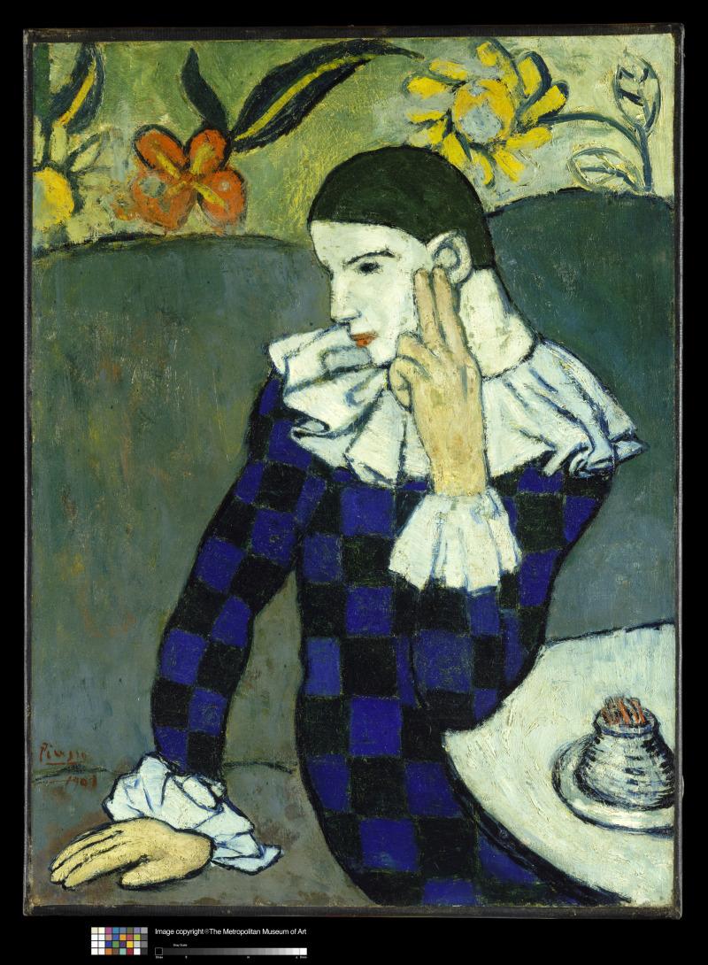Picasso, Arlequin assis