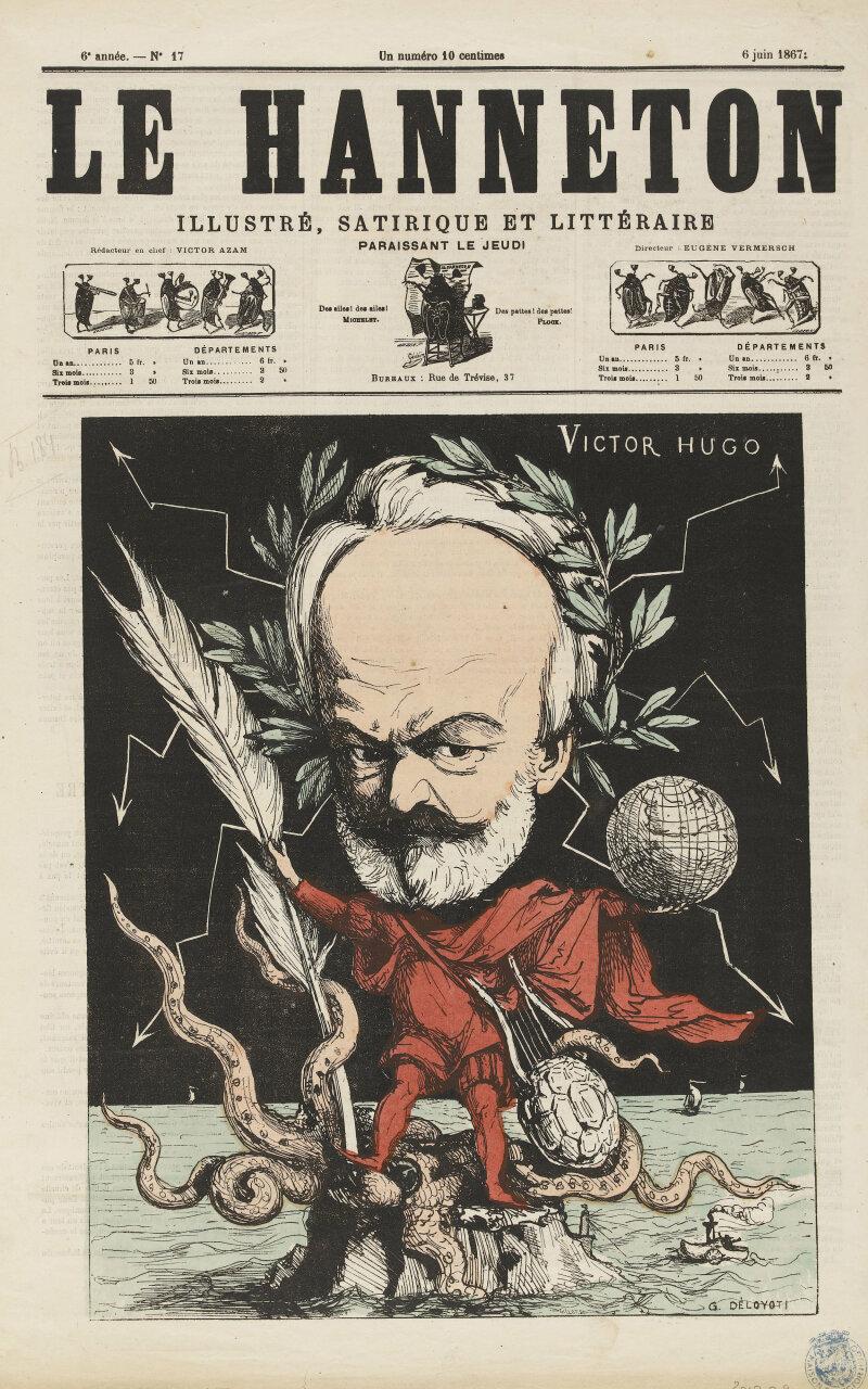 Caricature de Victor Hugo par Deloyoti dans
