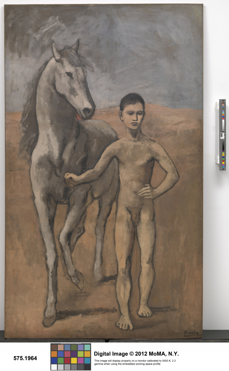 Picasso, Pablo (1881-1973): Boy Leading a Horse, 1905-6. New York, Museum of Modern Art (MoMA)*** Permission for usage must be provided in writing from Scala.