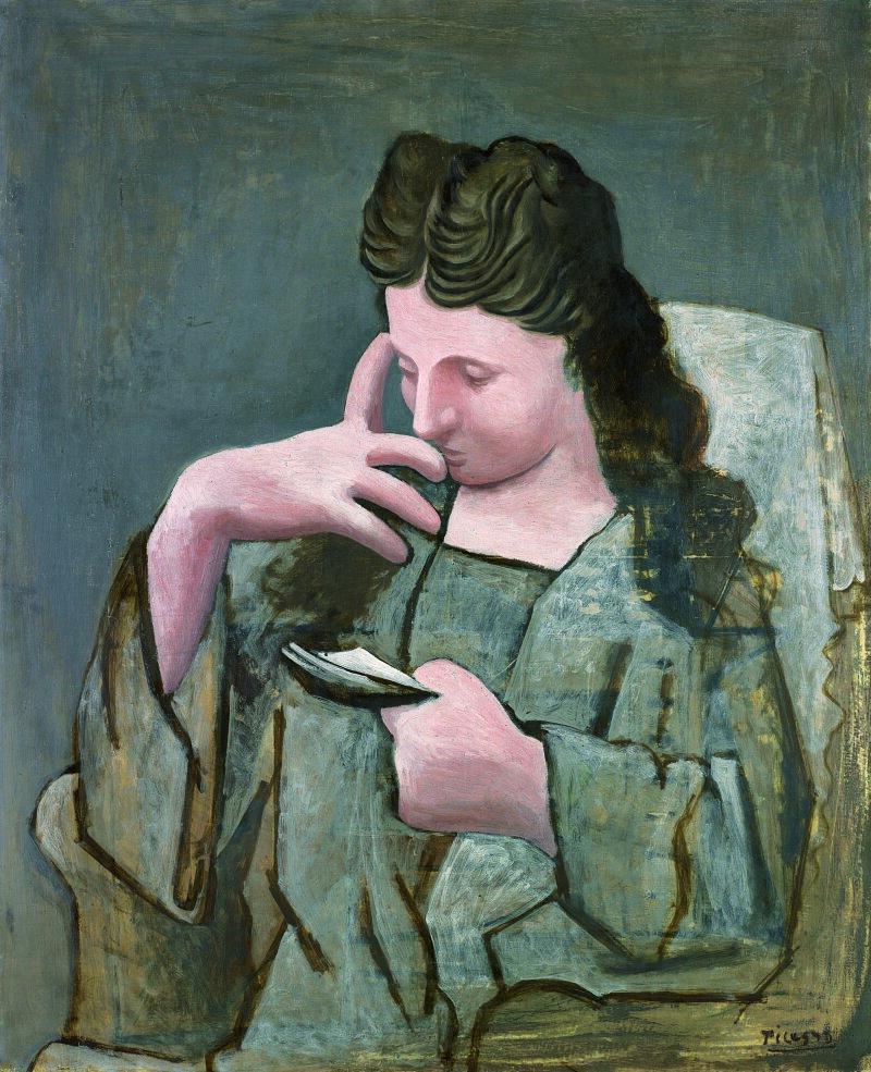 Femme  lisant,  Juan-les-Pins,  été  1920  Huile  sur  toile  100  x  81,2  cm    Musée  de  Grenoble  Don  de  l'artiste,  1921  MG  2132  ©  Musée  de  Grenoble