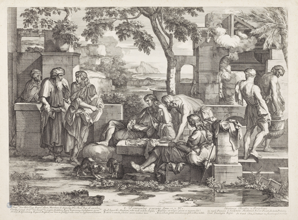 Sébastien Bourdon, Œuvres de miséricorde : Esurientes pascere, Eau-forte et burin.