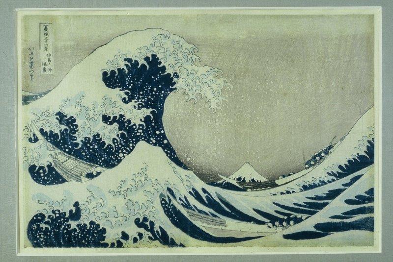 Katsushika Hokusai, Sous la vague au large de Kanagawa