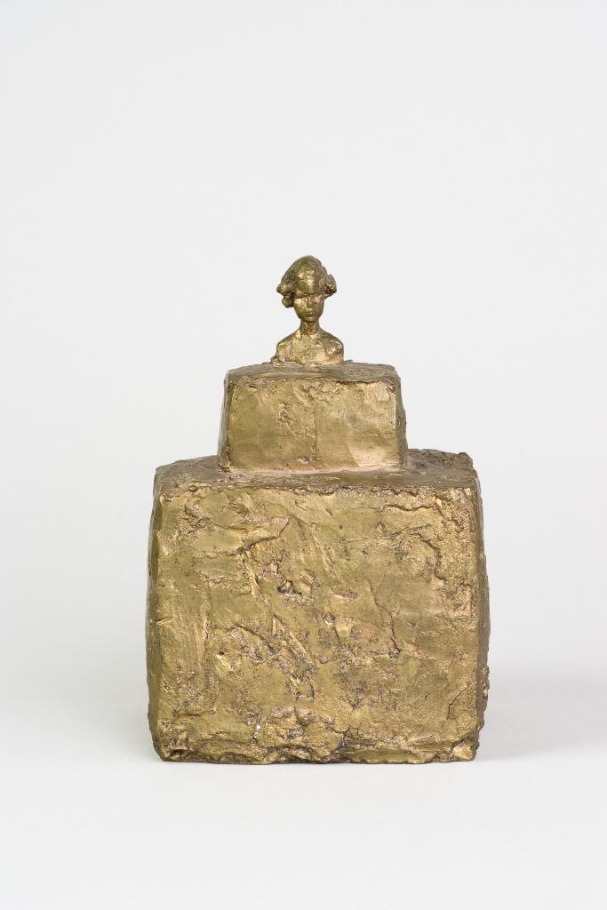 Alberto Giacometti - Petit buste de Silvio sur double socle