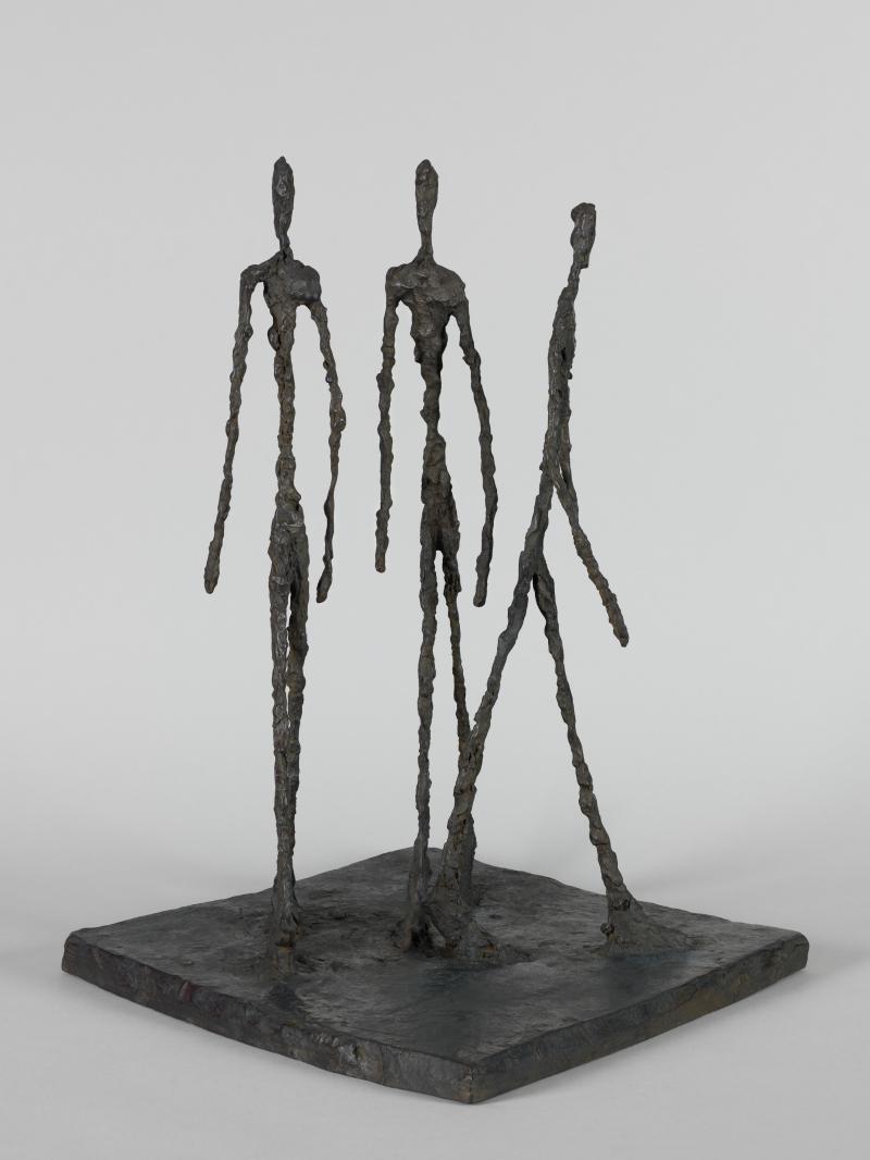 Alberto Giacometti - Trois hommes qui marchent - © Succession Alberto Giacometti (Fondation Giacometti, Paris + ADAGP, Paris) 2018