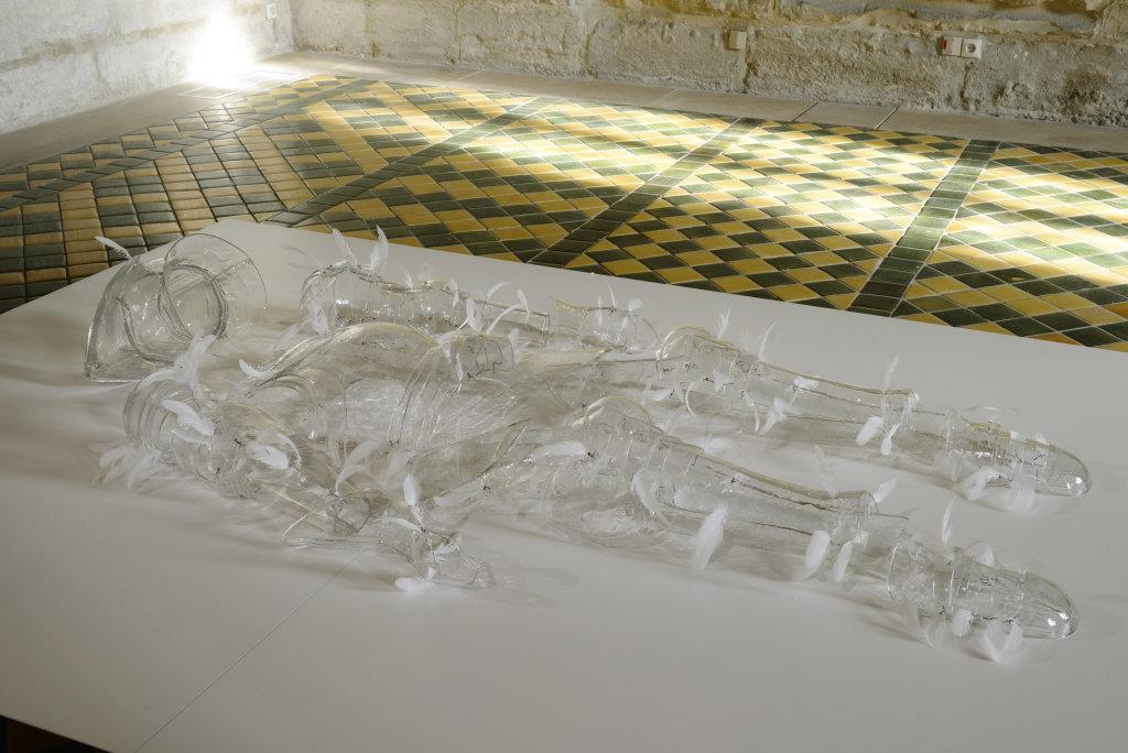 Armure, exposition de Patrick Neu a l abbaye de Maubuisson, Photo C. Brossais-CDVO (12)