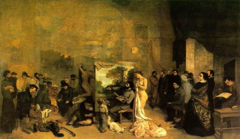 Gustave Courbet, L'Atelier du peintre, 1854-1855