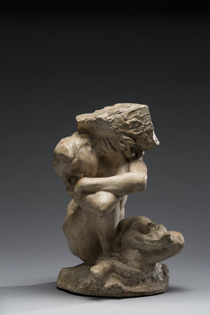 Auguste Rodin, Cariatide tombée portant sa pierre, 1905