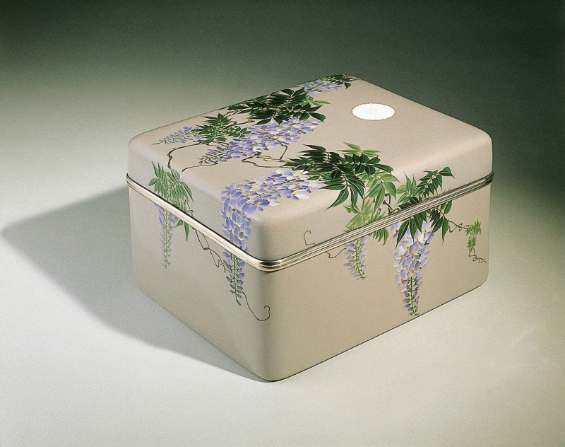 Boîte à décor de glycines