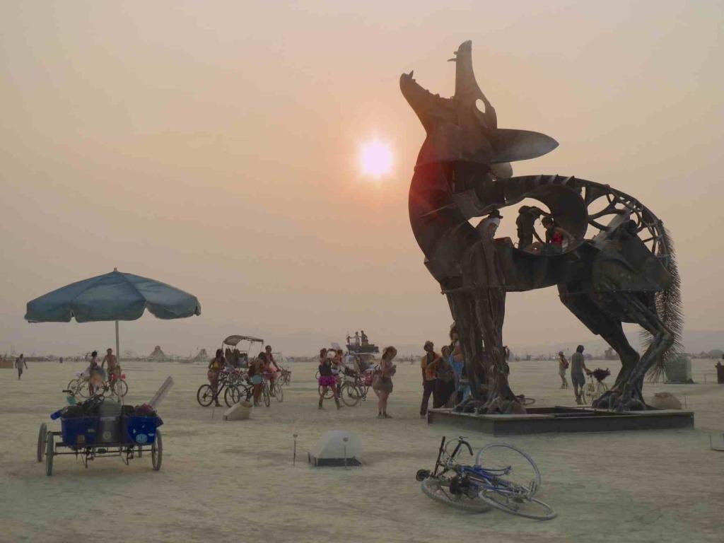 Burning Man 2013 coyote