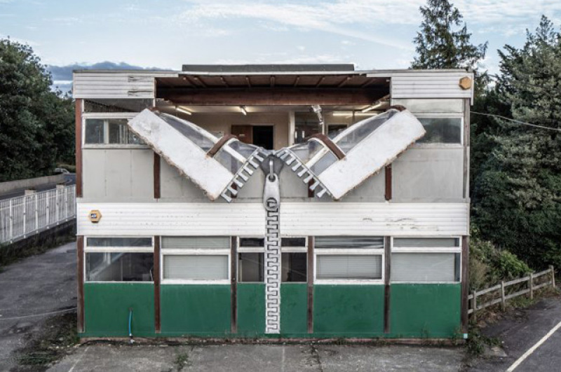(c) alex chinneck, unzipped