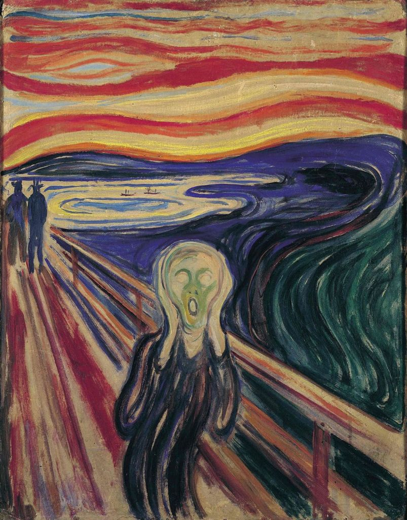 (c) Edvard Munch, Le cri