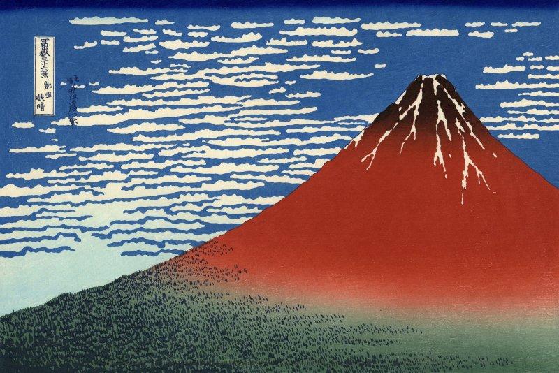 (c) Hokusai, Le Fuji par temps clair