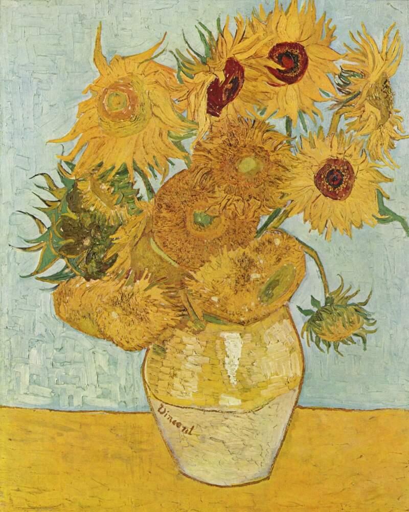 (c) Van Gogh, Tournesols