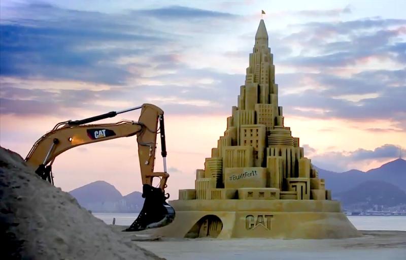 Châteaux de sable gigantesques