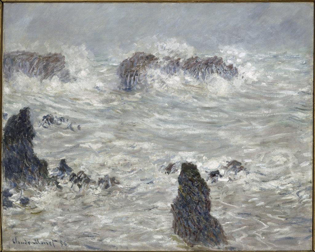 Claude Monet, Tempête, côtes de Belle-Île
