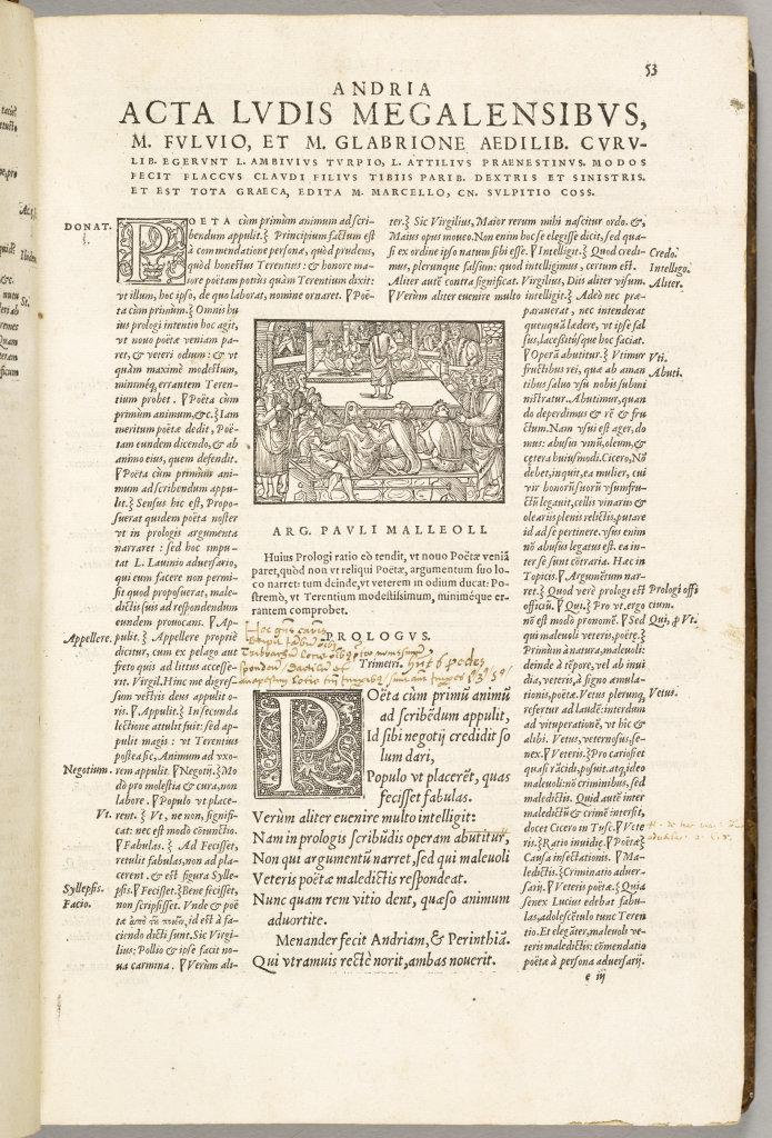 Comédies de Térence, Paris, Jean de Roigny, 1552, Écouen, musée national de la Renaissance