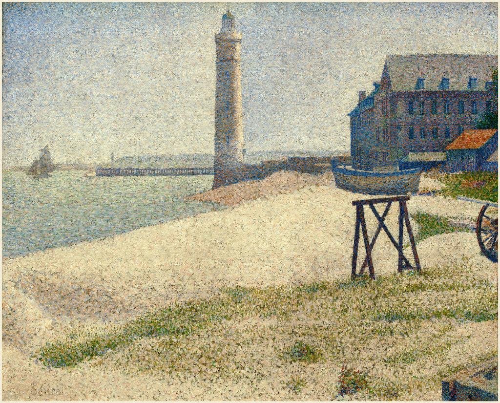 Georges Seurat, Le phare à Honfleur 1886