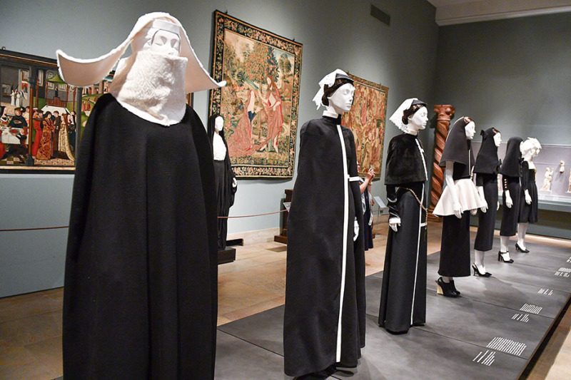 NEW YORK, NY - MAY 07:  Heavenly Bodies: Fashion & The Catholic Imagination Costume Institute Gala Press Preview at The Metropolitan Museum of Art on May 7, 2018 in New York City.  (Photo by George Pimentel/Getty Images)