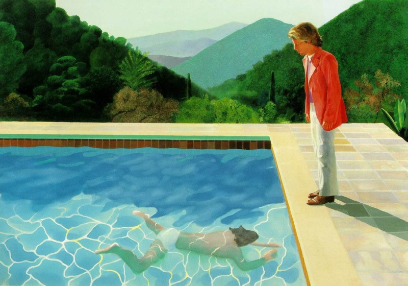 David HOCKNEY, Portrait of an artist (pool with two figures), 1972, acrylic on canvas, 214 x 305 cm, private collection
