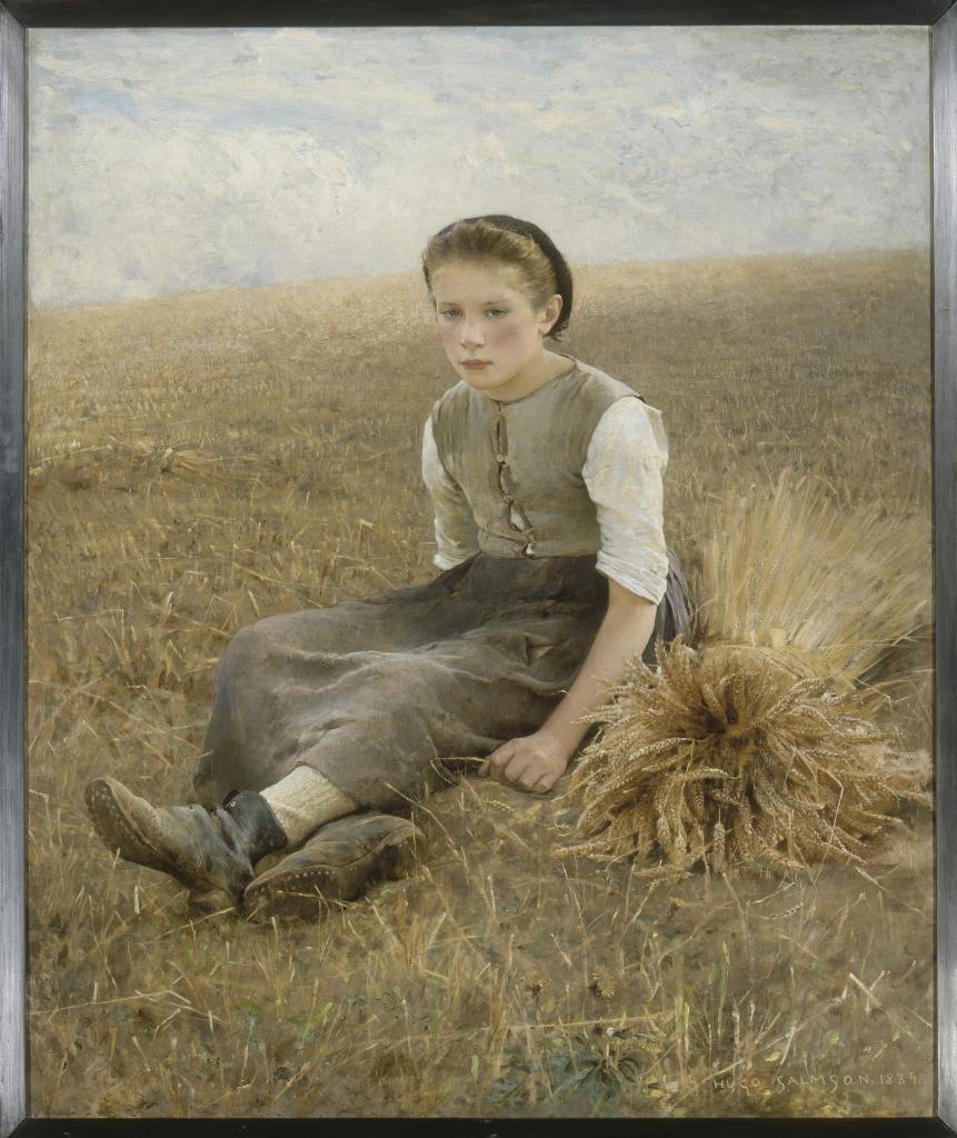 Hugo Frédérick Salmson, La petite glaneuse, 1884