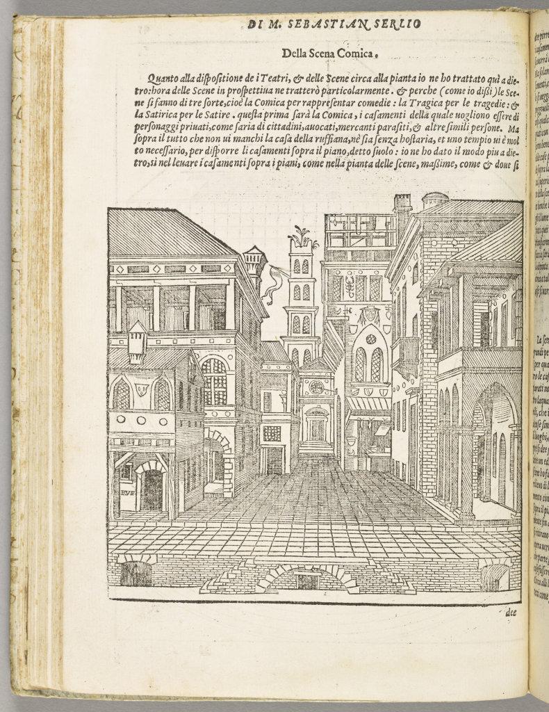 Il secondo libro di prospettiva, Sebastiano Serlio, éd. Venise, Francesco De Franceschi & Johann Criegher, 1566 (1ere éd. 1545), Écouen, musée national de la Renaissance