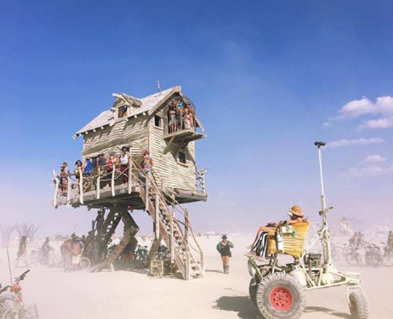The House of Baba Yaga, Burning man 2018