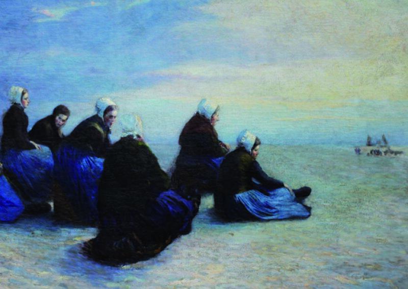 Ch. Roussel, Pêcheuses de crevettes (détail)
